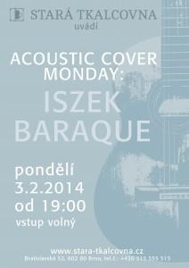 nahled na plagatek na acoustic cover monday iszek baraque
