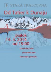 Od Tatier k Dunaju plagatek