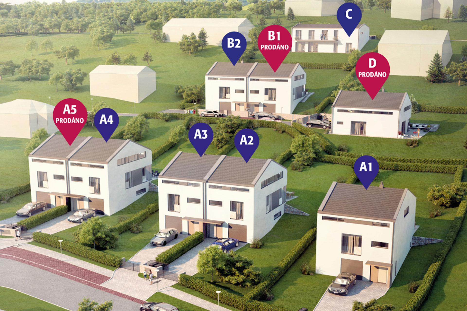 rodinné domy Vranov