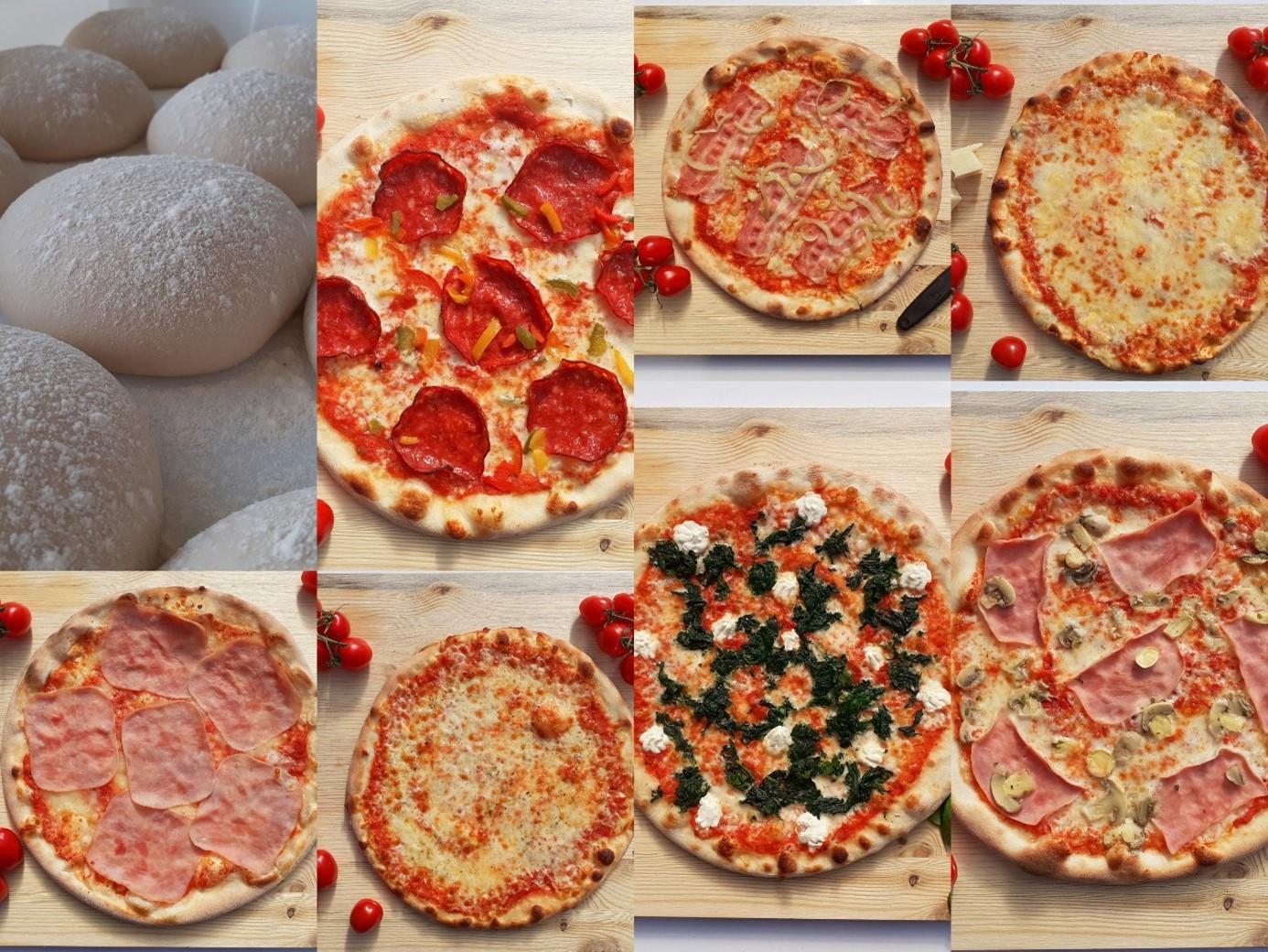 mix chlazených pizz